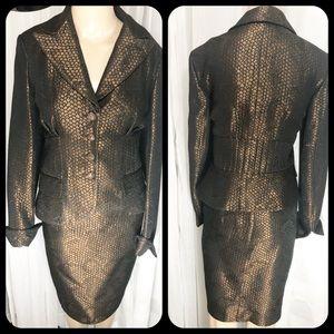 Kay Unger Designer Jacket & Skirt Suit